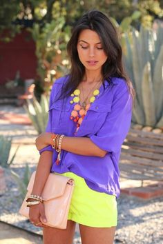 Style Duo: Shorts and Button Downs #spring #brights  http://www.studentrate.com/fashion/fashion.aspx