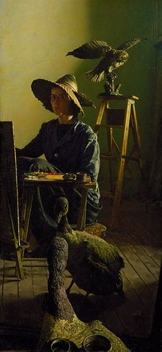 Priscilla Roberts (1916-2001) self portrait - 1946 oil on Masonite, Smithsonian American Art Museum via renzodionigi