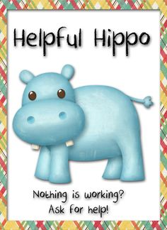 Helpful Hippo Reading Strategy