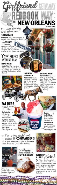 New Orleans Travel Guide - What To Do, See, Eat, and Drink in NOLA - Redbook; fun reference for traveling friends