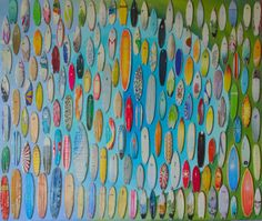 acrílico sobre madera, cartón e imágenes. 69 por 59 cm.