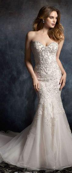 Randy Fenoli Bridal, Krystal Wedding Dress | Style 3412. Intricately ...