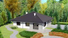 DOM.PL™ - Projekt domu Dom przy Słonecznej 2 CE - DOM EB2-49 - gotowy koszt budowy Gazebo, House Plans, To Go, Outdoor Structures, Gallery, Outdoor Decor, Home Decor, Roofing Contractors, Attic Conversion