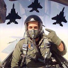 Saudi Air Force F-15 pilot selfie