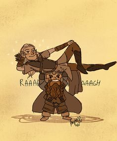 Legolas and Gimli! my favorite characters besides Pip, Merry, and Aragorn