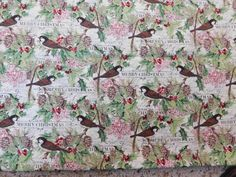 Christmas Fabric, Chickadee Fabric, By The Yard, Chickadee Pines Collection, Steele Creek Studio Fabrics, Quilting Sewing Fabric, Pine Cones by NeedlesnPinsStichery on Etsy