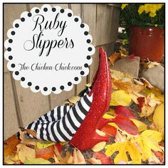 Ruby Slippers Tutorial. ~The Chicken Chick #Halloween