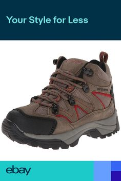 f4257631bad2 Northside Kids Boys NEW Snohomish Jr Waterproof Hiking Boots Lace Up Hiker  Shoes