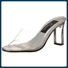 Fabulicious Romance-301 - sexy High Heels Mules Sandaletten 35-45, Größe:EU-43 / US-12 / UK-9 - Clogs für frauen (*Partner-Link)
