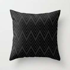 Black on Black Chevrons Throw Pillow by Lyle Hatch - $20.00