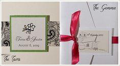 love the black, white and green Wedding 2015, Wedding Tips, Wedding Styles, Budget Wedding Invitations, Handmade Wedding Invitations, Wedding Cards Handmade, Fall Wedding Decorations, Diy Projects To Try, Homemade Cards