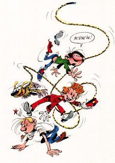 Gaston, le Marsupilami, Spirou, et Fantasio, par Fabrice Tarrin, d'après André Franquin, 2007.