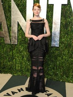 Emma Stone in Chanel at The Vanity Fair After Party, 2012