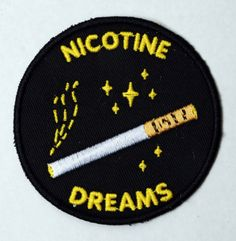 Nicotine PatchLimited Edition Embroidered Patches.Editions of 20.Signed and Numbered. Illustrations by Matthew BradleySHOP HERE