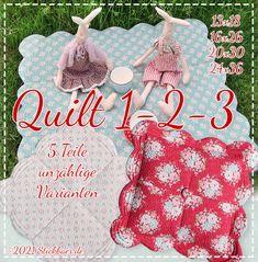 Der Stickbär | Quilt 1-2-3 | Stickmuster mit Herz