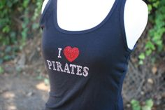 Disney Inpired I love Pirates Rhinestone Shirt by glittereverafter, $25.00