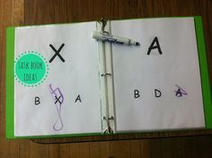use dry erase marker to circle matching letter