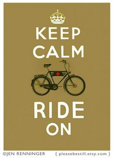 Keep Calm and Ride On in Single track Brown - Large print