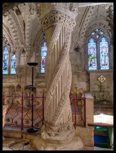 Rosslyn Chapel of The Templars ~ Edinburgh, Scotland Lehrlingssäule