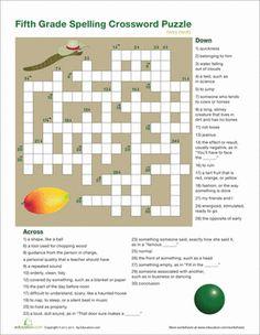 Fifth Grade Reading & Writing Worksheets: 5th Grade Vocabulary Crossword
