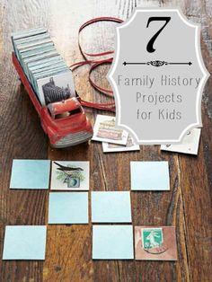 7 Family History Projects for Kids | Tipsaholic.com What great ideas! I especially like #s 1,4, 5, 7