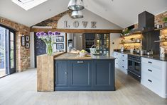 Project 19 – Wighill – The Main Company Country Kitchen Cabinets, Barn Kitchen, Home Decor Kitchen, Kitchen Interior, New Kitchen, Home Kitchens, Country Kitchen Diner, Open Plan Kitchen Living Room, Kitchen Dining Living