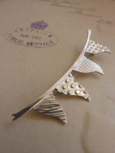 Silver Bunting Brooch by Bluebird Jewellery