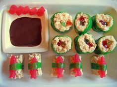 Sushi rice krispie treats, super cool!