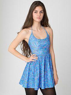 Printed Nylon TricotFigure Skater Dress American Apparel Dress 6f6fd9815