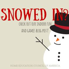 Snowed in and getting a little batty? Try these FUN indoor activities! #homeschooling #hecoa