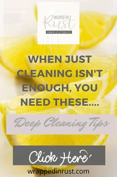Deep cleaning tips for clean freaks you can count on to help you get a thorough clean in less time. Just because you love a deep clean doesn't mean you love to do it--so do it easier and faster than before! #wrappedinrustblog #deepcleaningtips Cleaning Blinds, Mattress Cleaning, Oven Cleaning, Deep Cleaning Tips, Kitchen Cleaning, House Cleaning Tips, Natural Cleaning Products, Clean Refrigerator, Clean Dishwasher
