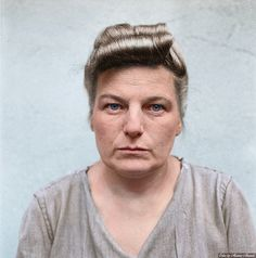The Banality of Evil: British ID photographs of Bergen-Belsen guards awaiting trial at Celle in August 1945. Herta Ehlert was sentenced to 15 years imprisonment.