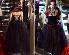 Pretty Little Liars Fashion burgundy and black tulle