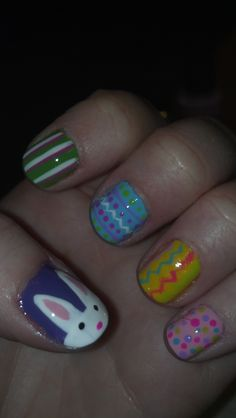 Easter nails I just did! :)