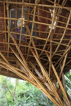 Bamboo Structure Bamboo Building, Natural Building, Green Building, Bamboo Art, Bamboo Crafts, Bamboo House, Bamboo Garden, Bamboo Architecture, Architecture Details
