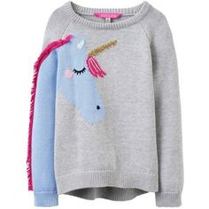 Joules Girls Geegee Unicorn Knitted Jumper