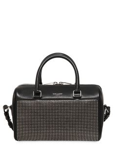 SAINT LAURENT - DUFFLE 3 MICRO STUDS LEATHER BAG