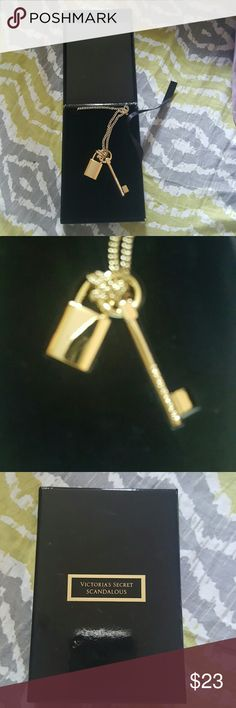 Victoria secret key and lock necklace Brand new Victoria's Secret Jewelry Necklaces