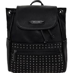 Versace 1969  Black Leatherette Studded Backpack