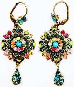 Michal-Negrin-Multicolor-Crystal-Flower-Earrings                                                                                                                                                                                 More