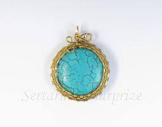 Pandantiv turcoaz Wire Jewellery, Jewelry, Pendant Necklace, Drop Earrings, Jewellery Making, Jewerly, Jewelery, Drop Earring, Jewels