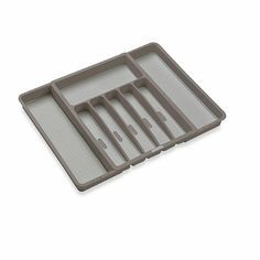 Made Smart® Expandable Cutlery Tray in Grey - BedBathandBeyond.com