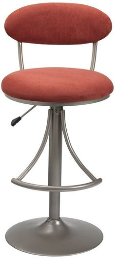 Hillsdale Furniture 4210-825H Venus Swivel Bar Stool with Flame Suede