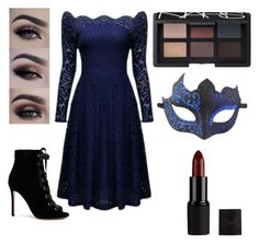 """""""Midnight Masquerade"""" by dancer0924 ❤ liked on Polyvore featuring Gianvito Rossi, NARS Cosmetics and Masquerade"""