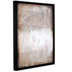 """Latitude Run 'Stone Abstract IX' Framed Watercolor Painting Print on Canvas Size: 10"""" H x 8"""" W x 2"""" D"""
