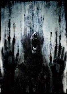 Silent Hill artwork by Masahiro Ito (darlene's notes: I know the feeling...)