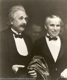Albert Einstein and Charlie Chaplin, 1931.