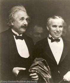 Albert Einstein and Charlie Chaplin, 1931.