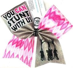 Bows by April - You Can Stunt With Us Glitter Cheer Bow, $15.00 (http://www.bowsbyapril.com/you-can-stunt-with-us-glitter-cheer-bow/)
