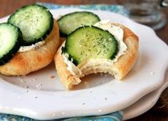 Cucumber Pizza, Super easy with cream cheese and crescent rolls